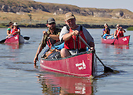 Eleven participants and 2 guides from Wilderness inquiry canoed the Upper Missouri River Breaks National Monument from Coal Banks to Judith Landing, Montana, from September 4 to 9, 2011.