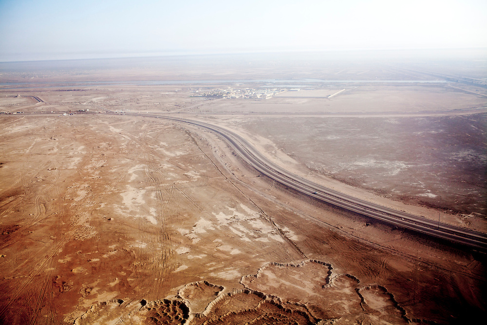 An aerial view of the outskirts of the city on Thursday, October 21, 2010 in Basrah, Iraq.