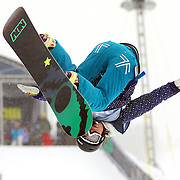12/20/08 12:51:07 PM -- Breckenridge, CO, U.S.A. -- Female snowboarder Soko Yamaoka of Nagano, Japan competes at the inaugural Winter Dew Tour in Breckenridge, Co. on December 20, 2008. The four-day competition is the first of three stops on the tour that features freeskiing and snowboarding..(Photo by Marc Piscotty / © 2008)