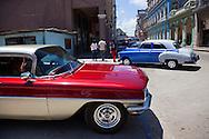 Cars in Havana Centro, Cuba.