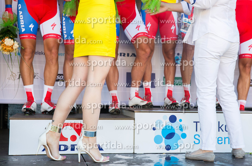 Katarina Bencek during trophy ceremony after the Stage 4 of 22nd Tour of Slovenia 2015 from Rogaska Slatina to Novo mesto (165,5 km) cycling race  on June 21, 2015 in Slovenia. Photo by Vid Ponikvar / Sportida