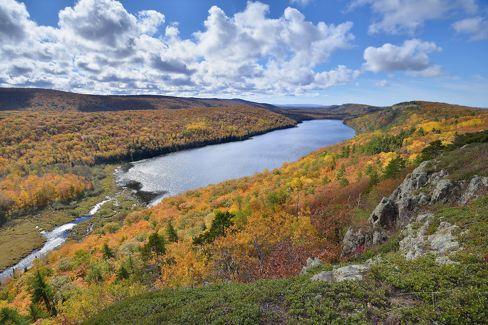 A view of Lake of the Clouds from the east end of the escarpment trail.<br /> Porcupine Mountains State Park, <br /> Michigan's Upper Peninsula