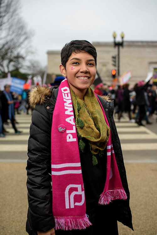 Washington, D.C. - January 21, 2017: Karin Roslund, 20, New York.<br /> <br /> An estimated half a million people showed up to the nation's capital for the Women's March on Washington Saturday January 21, 2106.<br /> <br /> <br /> CREDIT: Matt Roth for Buzzfeed
