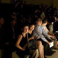 BEIJING, MAY-22 :  wealthy Chinese  wait for the beginning of the Balmain spring/summer 2012 show.