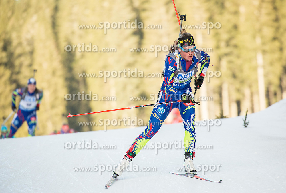 Marie Dorin Habert (FRA) competes during Women 7,5 km Sprint at day 2 of IBU Biathlon World Cup 2015/16 Pokljuka, on December 18, 2015 in Rudno polje, Pokljuka, Slovenia. Photo by Vid Ponikvar / Sportida