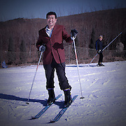 China-A day out skiing