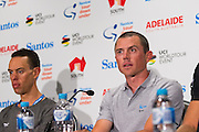 Media Conference with (R-L) Simon Gerrans (ORICA-SCOTT), Richie Porte (BMC Racing Team), Tour Down Under, Australia on the 14 of January 2017 ( Credit Image: © Gary Francis / ZUMA WIRE SERVICE )