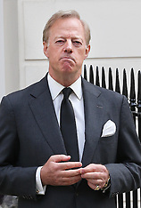 APR 10 2013 Sir Mark Thatcher speaks outside Baroness Thatcher's house
