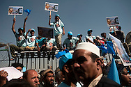 Supporters participate in a rally for presidential candidate Abdullah Abdullah in  Kabul, Afghanistan on August 17, 2009. Abdullah remains second in the polls for the Afghan elections to be held on August 20th. Photo by Keith Bedford