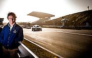 portret van coureur Jan Lammers op het circuit in Zandvoort