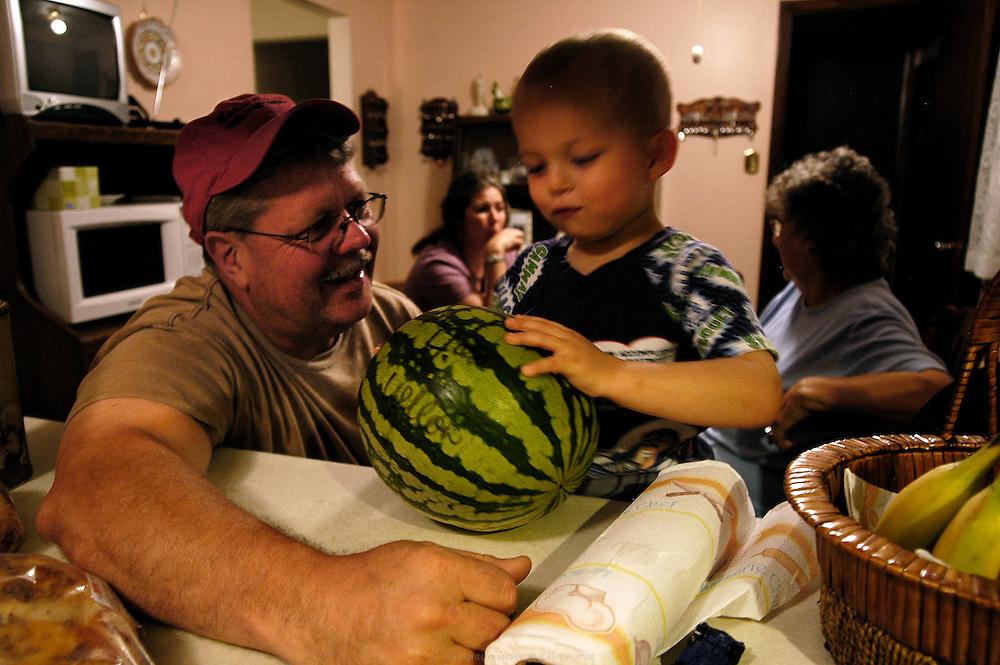 Dan rend visite à sa famille à Desmoines sur le chemin de l'Iowa State Fair, LE salon de l'agriculture aux États-Unis.