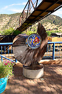 Public art in downtown Glenwood Springs, Colorado, USA