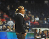 "Vanderbilt coach Melanie Balcomb vs. Mississippi at the C.M. ""Tad"" Smith Coliseum in Oxford, Miss. on Sunday, January 2, 2011. (AP Photo/Oxford Eagle, Bruce Newman)"