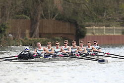 2012.02.25 Reading University Head 2012. The River Thames. Division 1. Staines Boat Club IM1 8+