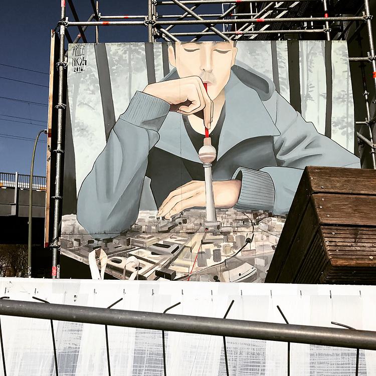 Germany - Deutschland - HOLZMARKT Projekt; Konzertsaal - Säälchen; Street Art by Artez - Berlin, 27.03.2017; © Christian Jungeblodt