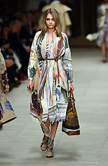 FEB 17 2014 Burberry Prorsum show at London Fashion Week A/W 14