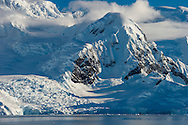 Snow covered mountains, Wilhelmina Bay, Antarctica