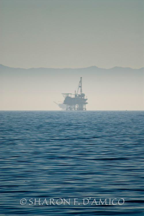 Offshore Oil Platform Alongside Channel Islands National Marine Sanctuary Waters, California
