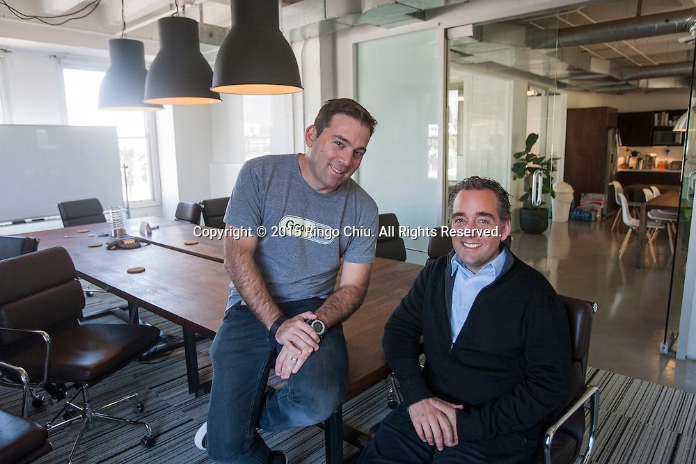 Doug Hirsch, left, co-CEO, GoodRx Inc. and co-CEO Trevor Bezdek. (Photo by Ringo Chiu)