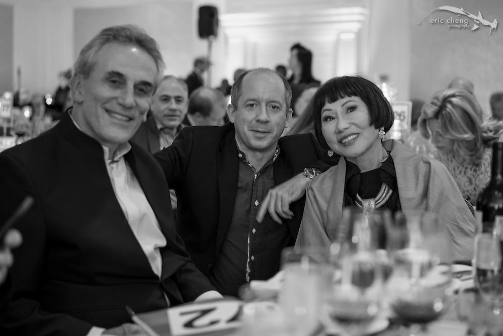 Lou DeMattei, Duncan Clark, Amy Tan; WildAid Gala, November 15, 2014