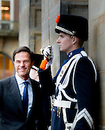 12-1-2016 AMSTERDAM Mark rutte Koning Willem-Alexander en Koningin Maxima houden dinsdag 12 januari 2016 de traditionele Nieuwjaarsontvangst voor Nederlandse genodigden in het paleis op de dam . prinses beatrix  prinses Margriet . COPYRIGHT ROBIN UTRECHT<br /> AMSTERDAM 12-1-2016 King Willem-Alexander and Queen Maxima arrive Tuesday, January 12th, 2016 for the traditional New Year Reception for Dutch guests in the palace on the dam. princess beatrix Princess Margriet . COPYRIGHT ROBIN UTRECHT