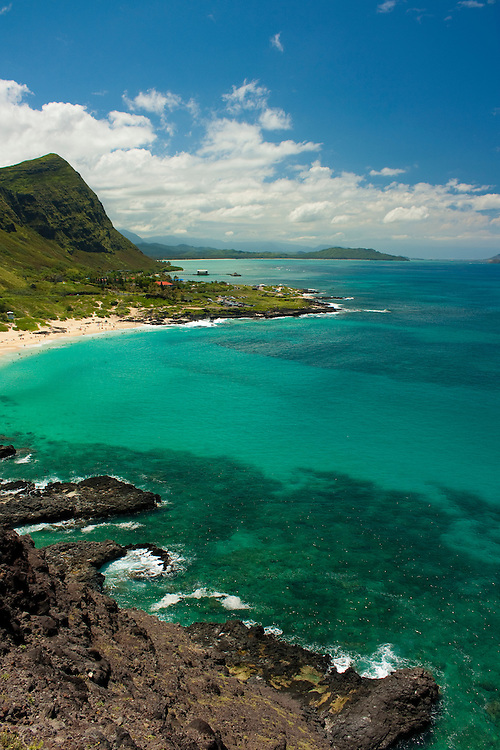 Makapu'u beach and windward coast of Oahu, Hawaii