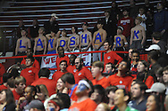 Fans spell out LANDSHARK at Ole Miss vs. Texas A&M in Oxford, Miss. on Wednesday, February 27, 2013.