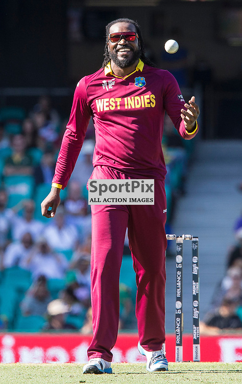 ICC Cricket World Cup 2015 Tournament Match, South Africa v West Indies, Sydney Cricket Ground; 27th February 2015<br /> West Indies Chris Gayle