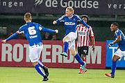 ROTTERDAM - Sparta Rotterdam - Helmond Sport , Voetbal , Seizoen 2015/2016 , Jupiler league , Sparta stadion het Kasteel , 27-11-2015 , Helmond sport speler Roel van de Sande (2e l) scoort de 0-1 en viert dit