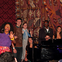 Senior Yvette Williams (left) leads a song as they perform Rocket Man: The Music of Elton John during the 13th Annual ArtsGala at Wright State University's Creative Arts Center, Saturday, March 31, 2012.