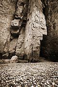 Rock-bar and canyon wall. Santa Elena Canyon, Big Bend National Park, Texas.