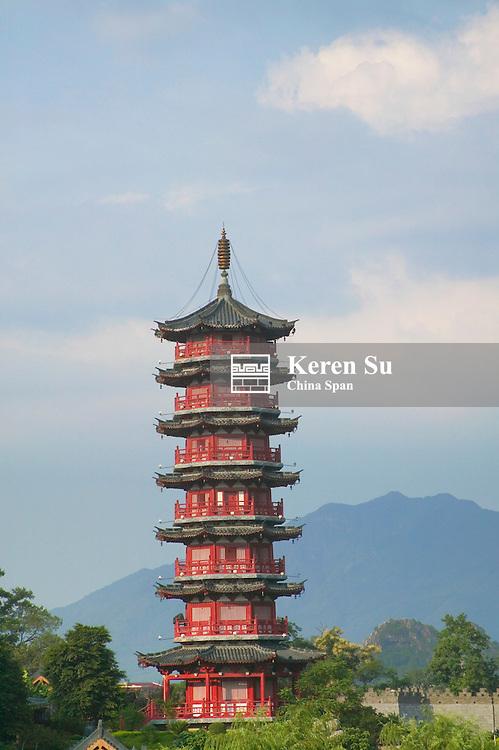 Gold Tower in Lake Ronghu, Guilin, Guangxi, China