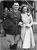 1952 Wedding of Capt. Pat O'Donnel and Miss Stephanie Tyndall