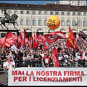 Sciopero generale CGIL a Torino