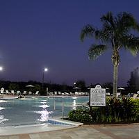 USA, Florida, Orlando. One of four pools at the Rosen Shingle Creek Resort.