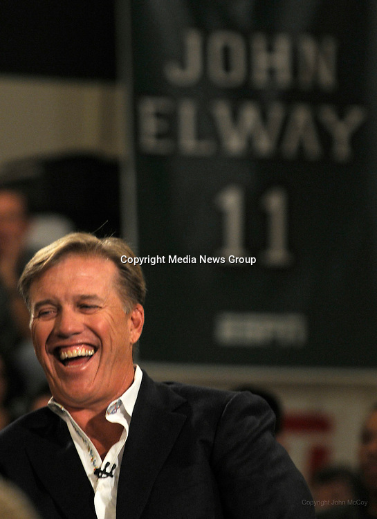 John Elway is interviewed at Granada Hills High School for a show to    John Elway High School