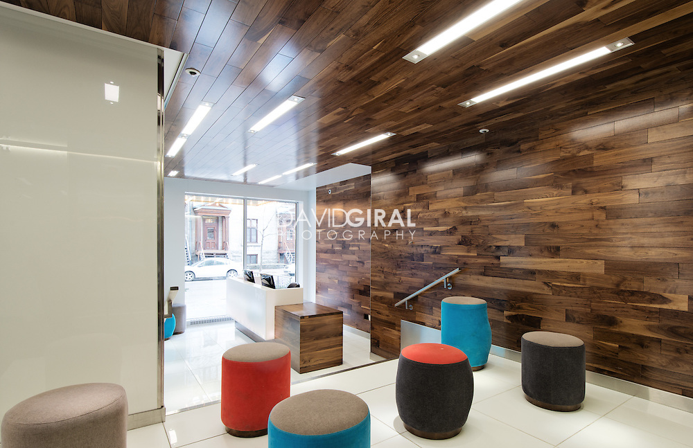 Interiors Photography Montreal: Hotel Lobby Le Trylon, by interior designer Jean De Lessard, Montreal, Quebec, Canada