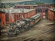 Operating steam train at Steamtown, USA, National Park.