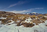 Sand dunes, Great Sand Dunes National Park, Sangre de Cristo Mountains, Colorado