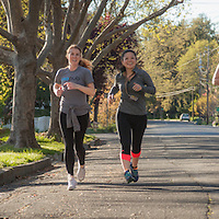 Joggers on Cedar Stree in Calistoga