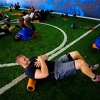 2/18/13 1:38:57 PM -- Bradenton, FL, U.S.A. -- NFL prospect and former FSU defensive end Björn Werner works out at IMG Academy in Bradenton, Fla., in preparation for this year's NFL Combine.  -- ...Photo by Chip J Litherland, Freelance