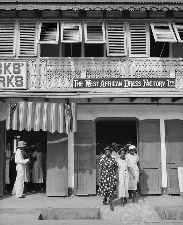 Negress Dress Establishment, Lagos, Nigeria, Africa, 1937