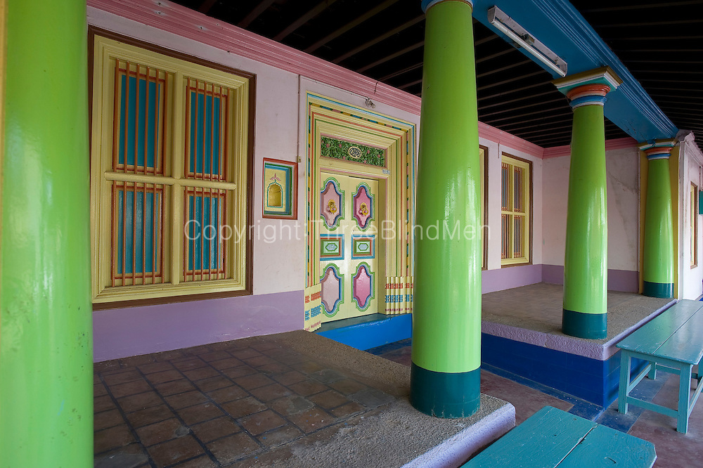 Front veranda of a home in Thittacheri. South India.
