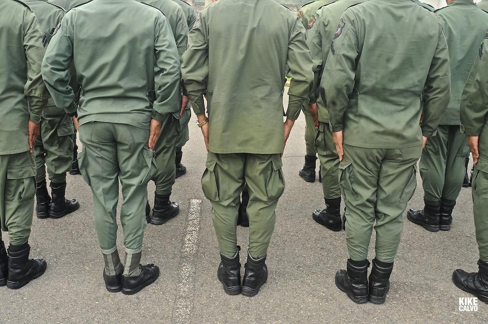 Panamanian National Police forces.    Panama. - July 11, 2012 (Kike Calvo via AP Images)