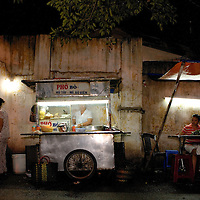 Dining 'al fresco' in a Ho Chi Minh alleyway