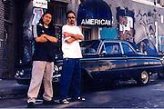 Gajin Fujita & Paul Kanemitsu in downtown LA by Al's Bar.