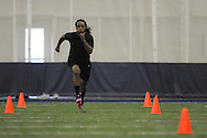 Mississippi football player Jeremy Magee at Pro Day in the IPF in Oxford, Miss. on Tuesday, March 22, 2011.