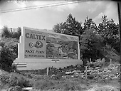 1956 O'Farrell Sign for Caltex at Newtown Mount Kennedy, Co Wicklow