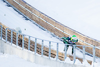Maja Vtic of Slovenia competes during 11th Women FIS Ski Jumping World Cup competition in Planica replacing Ljubno  on January 25, 2014 at HS95, Planica, Slovenia. Photo by Vid Ponikvar / Sportida