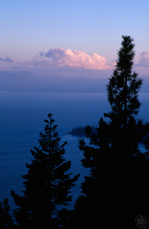&quot;Stateline Point, Lake Tahoe&quot;- This sunset was photographed from Incline Village, NV, facing southwest.<br />